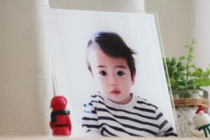 赤ちゃんの写真をアクリルプレートに